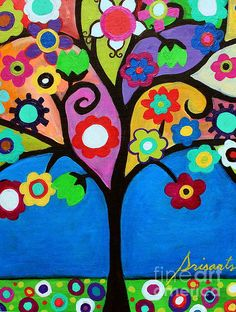 TREE, TREE OF LIFE, BLOOMS,FLORALS,FLOWERS,MEXICAN,ART,FOLK ART, PAINTING, STILL-LIFE,PRISARTS,PRISTINE,CARTERA-TURKUS,WHIMSICAL, BEST-SELLER,POPULAR,SALE,NURSERY,BEDROOM,DESIGN,INTERIOR DESIGN, DECOR, HOME, HOUSEWARMING, GIFT, PRESENT, BAR , BAT , MITZVAH, B'NAI MITZVAH, JUDAICA, JEWISH RELIGION, HAPPINESS, COLORS, COLORFUL LIFE, INSPIRATION