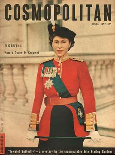 Cosmopolitan magazine OCTOBER 1952  Model: Elizabeth II Photographer: Keystone Studios