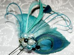 fascinators aqua peacock - Google zoeken