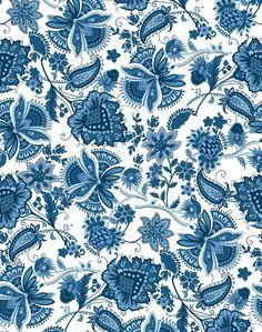 'Darling Nikki' Wallpaper by Wallshoppe - Blue - Wallpaper Roll - Sample