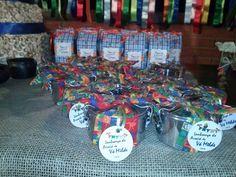 Festa Junina / Julina - decoração e personalizados - marmitinhas de chocolate