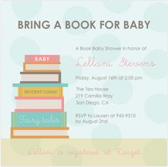 Themes Book Themed Baby Shower Invitation With Picture Books In Stack Good Wording in Book Themed Baby Shower Invitations Ideas and More