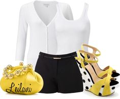 """""""Small pop of yellow contest"""" by leilani-almazan on Polyvore"""