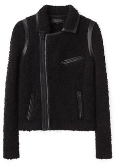 For your Stylish Sidekick: Bouclé Moto Jacket by Rag & Bone