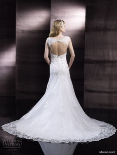 moonlight bridal couture spring 2014 wedding dress style h1245 keyhole back