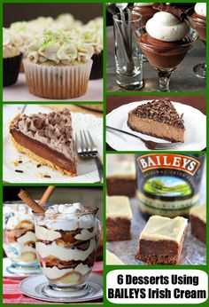 6 St. Patrick's Day Desserts Using Baileys Irish Cream
