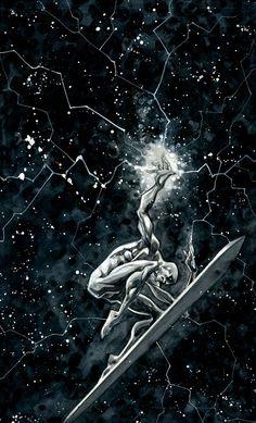Silver Surfer by Roger Cruz Marvel Comic Character, Marvel Characters, Character Art, Marvel Comics Art, Marvel Vs, Captain Marvel, Roger Cruz, Comic Books Art, Comic Art