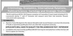 University of Sindh Admisions - New Jobs Portal