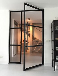 Interior And Exterior, Interior Design, Steel Doors, Glass Door, Sweet Home, New Homes, Lounge, Contemporary, Inspiration