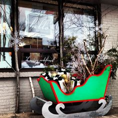 Sleigh parking only!