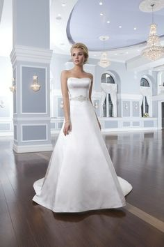 Style #6291 - This effortlessly elegant satin A-line gown has a beautiful strapless neckline that is accented with a beaded belt I @Lillian West I http://www.weddingwire.com/wedding-photos/i/ivory-dress-waist-natural-white-silver-dress-price-1501-to-3000-sweetheart-dress-sleeveless-line-satin-dress-accents-sash-belt-strapless-floor-beading-lillian-west-dress-romantic-classic-modest/i/fa32c86b0c6c306a-d9027d861ebc19ca/ffaab2a599967ba3?cat=dresses&tags=lillian-west-dress&page=1&type=search