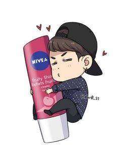 The most precious thing. Oh, Yunhyeong. find yourself a man who loves you as much as yunhyeong loves nivea lip balms😂 Kim Jinhwan, Chanwoo Ikon, Hanbin, Bobby, Ikon Songs, Winner Ikon, Yg Artist, Ikon Kpop, Hello My Love