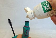 If you want to make your flaky, clumpy mascara last longer, mix a little contact solution in.
