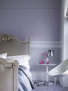 Classic meet contemporary feel with soft greys and blues..:
