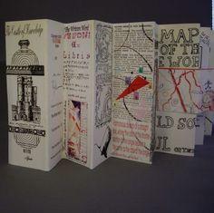 accordion book—castle of knowledge