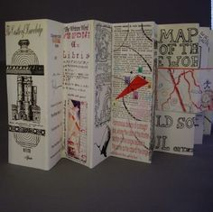 accordion book—castle of knowledge