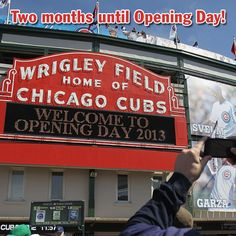 #Cubs fans, Opening Day at Wrigley Field is just two months away!