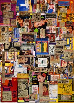 "Collage by Shinro Ohtake 大竹伸朗 (1955 - ), One of the grand masters of ""Pin-it"""