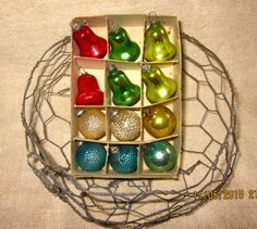 Vintage Fancy Feather Tree Ornaments-Bells by angelinabella