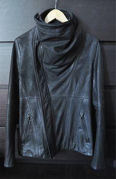 Julius cowl neck leather jacket/ FW10