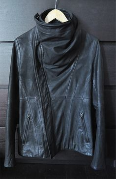 Julius cowl neck leather jacket/ FW10