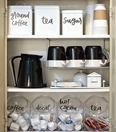 Organized Coffee Station