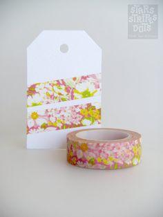 WASHI TAPE  romantic flower pattern on pink by StarsStripesAndDots