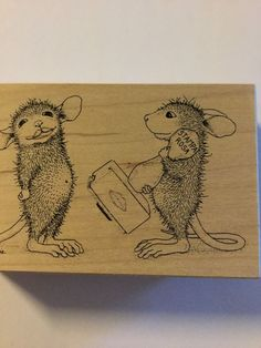 Stamps Rosa House Mouse Designs Stamp A Kiss #002 New Rubber Stamp 1998    eBay