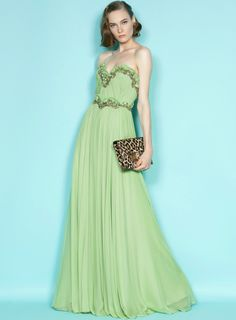 dress #Marchesa #fashion #mint #green #vintage