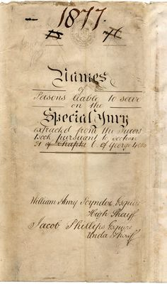 https://flic.kr/s/aHsm9yuSHX | Names of Persons Liable to Serve on the Special Jury - Wiltshire - 1876 & 1877