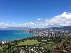 Diamond head lookout, Oahu. The hike to the top was warm but the view is amazing!