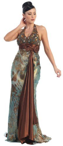 Ball Gown Formal Prom Halter Printed Dress #7012 « Dress Adds Everyday