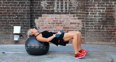 Bridges with Weighted Hip Thrust - Steal this move from Carrie Underwood's personal trainer