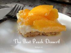 The best peach dessert - Deliciouse Cuisine Eat Dessert First, Dessert Bars, Cheese Dessert, Dinner Dessert, Fruit Dessert, Just Desserts, Dessert Recipes, Jewish Desserts, Recipes Dinner