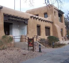 The NM Museum of Art built in 1917 sits on West Palace Avenue near the Santa Fe Plaza.