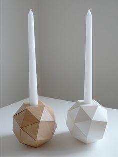 Mother of pearl origami candlestick set of 2 via Etsy (Urban Analog)    #MyVibeMyPearl