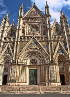 Orvieto Cathedral - Orvieto, Italy. Built in the 14th century.