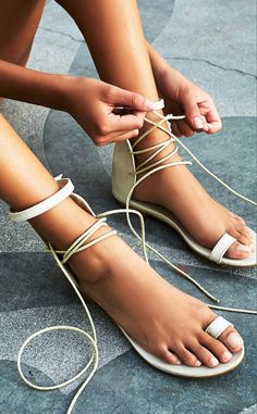 Lace up sandals // buy here