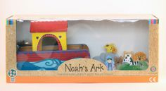 Noah's Ark' Wooden Toy Set - Complete with 7 pairs of animals! Ark, Wooden Toys, Toy Chest, Orange, Animals, Home Decor, Gift, Wooden Toy Plans, Wood Toys