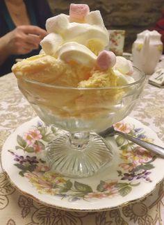 Forsyth's Tearoom In Edinburgh. Must be the quaintest tearoom in Scotland. This is Megan's ice cream.