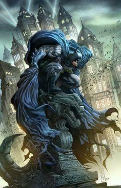 Legal, mas com uma capa desse tamanho só o Spaw ia conseguir andar :v Batman by Alan Quah