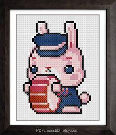0184DrummingBunny  PDF Cross Stitch pattern  Buy by PDFcrossstitch, $6.00