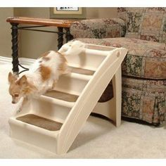 Solvit Plus Pet Stairs PupSTEP, Cat Dog Ramp Steps, -- Find out more details by clicking the image : Cat furniture Small Puppies, Small Dogs, Small Breed, Cat Stairs, House Stairs, Diy 2019, Pet Ramp, Dog Steps, Cat Dog