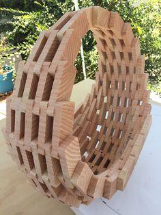Wooden Hanging Planter Basket | The Home Depot Community
