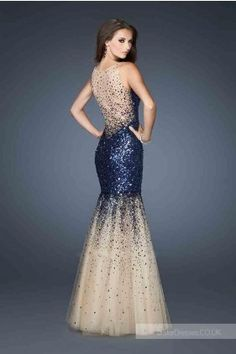 V-neck Dress by La Femme 19097 Long Prom Dresses Giving Girls an Unforgettable Aura of Confidence