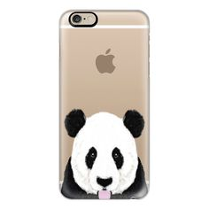 Panda cute black and white nature animal transparent cell phone case... (€36) ❤ liked on Polyvore featuring accessories, tech accessories, iphone, iphone case, apple iphone cases, slim iphone case, black and white iphone case, iphone cases and iphone cover case