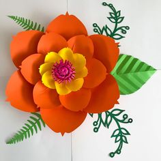 Start your own paper flower business and make money from the comfort of your home using The Crafty Sagittarius Premium Paper flower templates How To Make Paper Flowers, Large Paper Flowers, Paper Flower Wall, Crepe Paper Flowers, Paper Flower Backdrop, Diy Flowers, Deco Champetre, Diy And Crafts, Paper Crafts