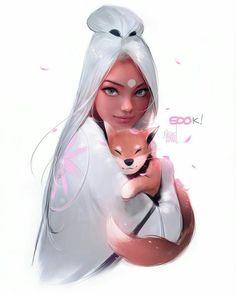 Nima and Milo by rossdraws on DeviantArt Anime Girl Cute, Anime Art Girl, Ross Draws, Character Art, Character Design, Trans Art, Art Folder, Digital Art Girl, Love Art