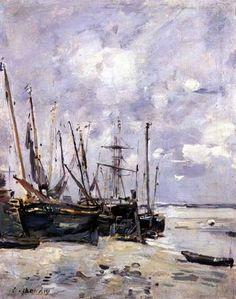 Image: Eugène Boudin - Boats