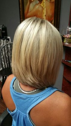 Slightly inverted and layered cut. Used shears, thinning shears and razor for notch cutting and adding volume.